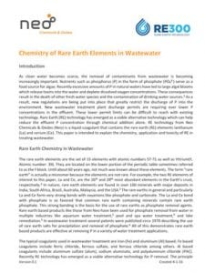Rare Earth Chemistry in Wastewater