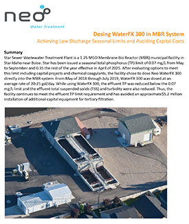 Star Sewer Case Study: Dosing WaterFX 300 In MBR System